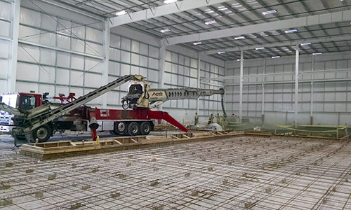 Indoor Concrete Pumping